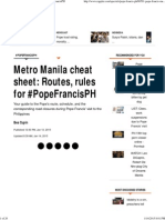 Metro Manila Chnmeat Sheet_ Routes, Rules for #PopeFrancisPH