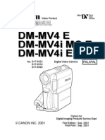 Canon MV4 Mini DV Camcorder Service Manual