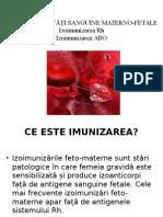 Incompatibilităţi Sanguine Materno-fetale