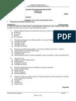 Model Bacalaureat 2015 - Sociologie