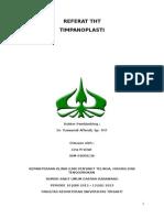 Referat Timpanoplasti Lina (Autosaved)
