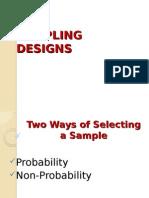 SamplingDesign