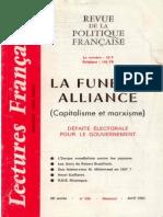 Lectures Francaises - La Funeste Alliance