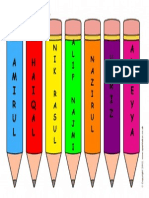 Editable Pencil Template 2