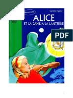 Caroline Quine Alice Roy 87 BV Alice et la dame à la lanterne 1998.doc