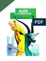 Caroline Quine Alice Roy 85 BV Alice et la gazelle verte 1997.doc