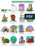 Home House Types Pictionary Poster Worksheet
