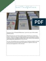 student portfolios - competency 5
