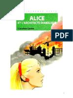 Caroline Quine Alice Roy 75 BV Alice et l'architecte diabolique 1990.doc