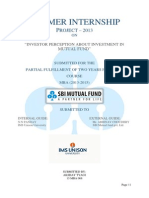 Sbi Mutual Fund Project Report