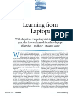 Learning From Laptops