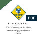 pack 332 den leader guide