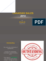 Canadian Sales 2014
