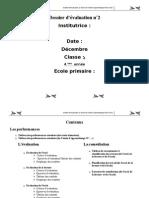 Dossier d'évaluation4 eme au terme de l'unité d'apprentissage N°2