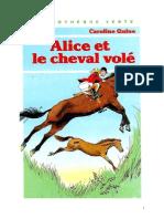 Caroline Quine Alice Roy 67 BV Alice et le cheval volé 1982.doc