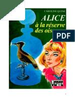 Caroline Quine Alice Roy 52 BV Alice à la réserve des oiseaux 1973.doc