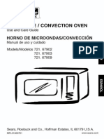 Kenmore 721.67903601 Microwave Convection Oven
