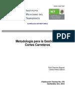 Pt370 Metodologia Para Gestion de Corte de Carretera Mexico