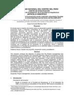 Proyeccion social y extension universitaria en la UNCP