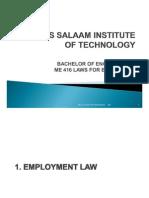 1. Employment Law