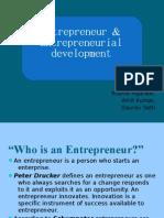 Entrepreneur & Entrepreneurial Development