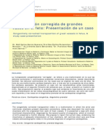 Transposicion de Grandes Vasos Presentaciond e Caso Clinico