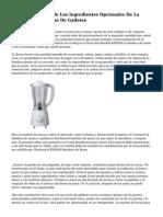 Fundamentales Y De Los Ingredientes Opcionales De La Utilizada En Recetas De Galletas