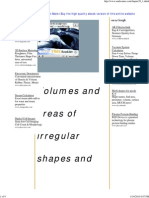 Volumes and Areas of Irregular Shapes