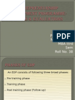 Phases & Evaluation of EDP-