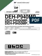 Pioneer Deh-p940mp, p9400mp, p9450mp