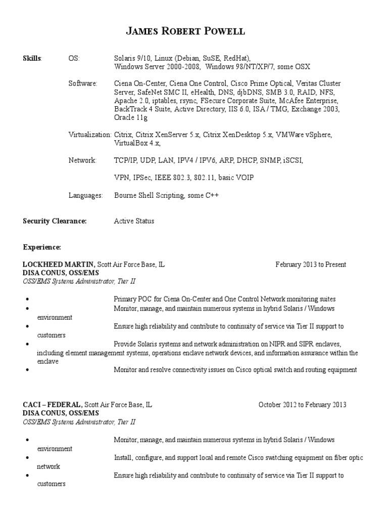 120413 Resume   Help Desk   Linux