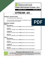 KVPY 2014 Paper SA Solution