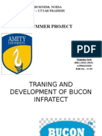 Training and Development of Bucon Intrafect