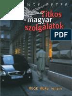 Kp Titkos Magyar Szolgalatok
