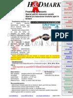 Fisa Tehnica - Freatimetru Sonda fluier