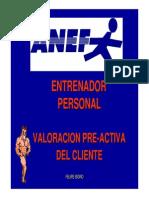 Valoracion Pre-Activa y Grupos de Riesgo
