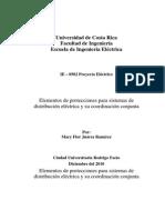 Elementos de protecciones para sistemas de distribución eléctrica
