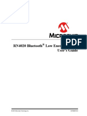 RN4020 Bluetooth® Low Energy Module | Bluetooth | Pic