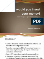 Where Would You Invest Your Money?