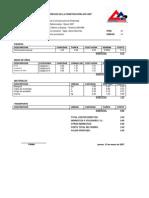 Análisis de Precios Unitarios - Marzo 2007