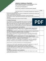 Level 3 Guidance Checklist 031109