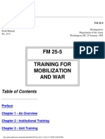 FM 25 5 Training for Mobilization and War Field Manual