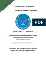 Ensayo Teoría General de Sistemas-Jorge Luis Terreros