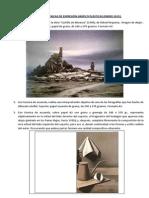 Ejercicios de Técnicas de Expresión Gráfico Plásticas. Enero 2015.