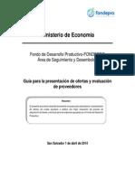 Breve Manual de Adquisiciones Fondepro
