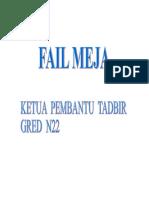 Fail Meja Ketua Pembantu Tadbir N22