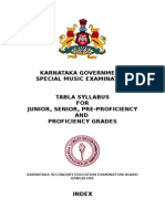 Karnataka Government Tabla Exam Syllabus