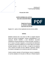 15225(15-09-05) Sentencia Corte Suprema de Justicia
