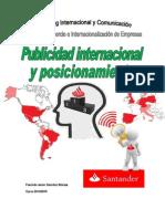 Publicidad Internacional y Posicionamiento Banco Santander