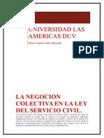 Derecho Del Trabajo Negociacion Colectiva en La Ley Servir